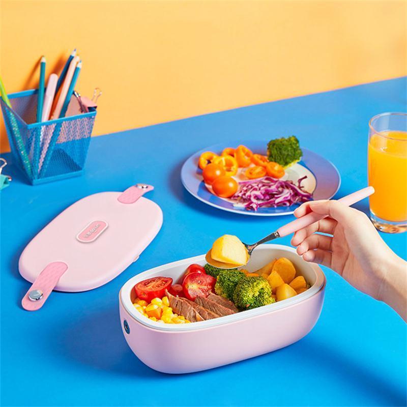 可以热饭的饭盒 · 东菱加热饭盒 上班族热饭神器保温饭盒可插电加热便当盒 DL-1166 白色