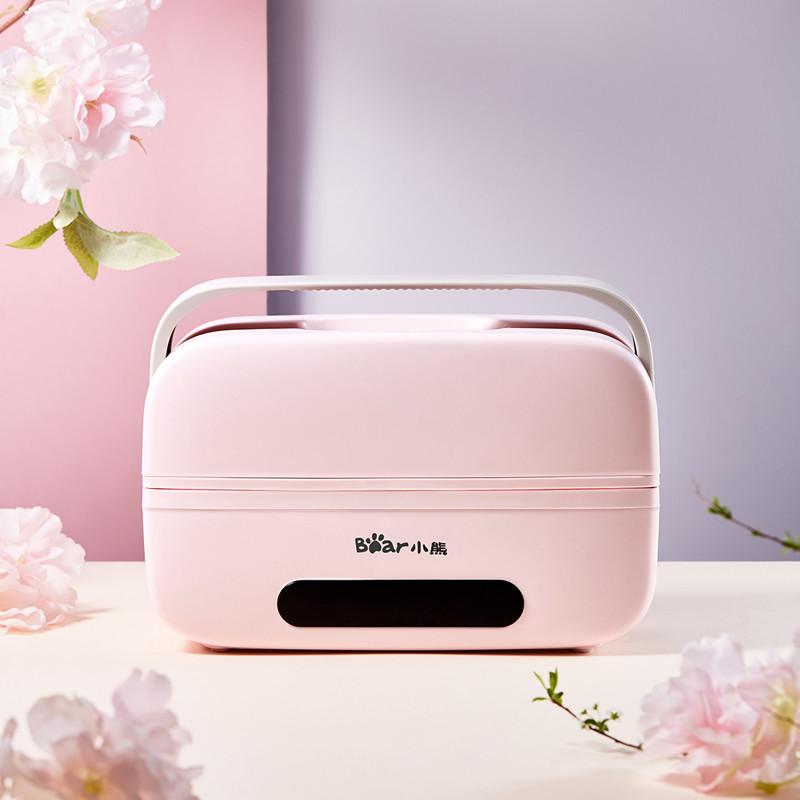DFH-B10T6显示屏电热饭盒保温双层带饭菜蒸煮【减肥便当】上班族 樱花粉