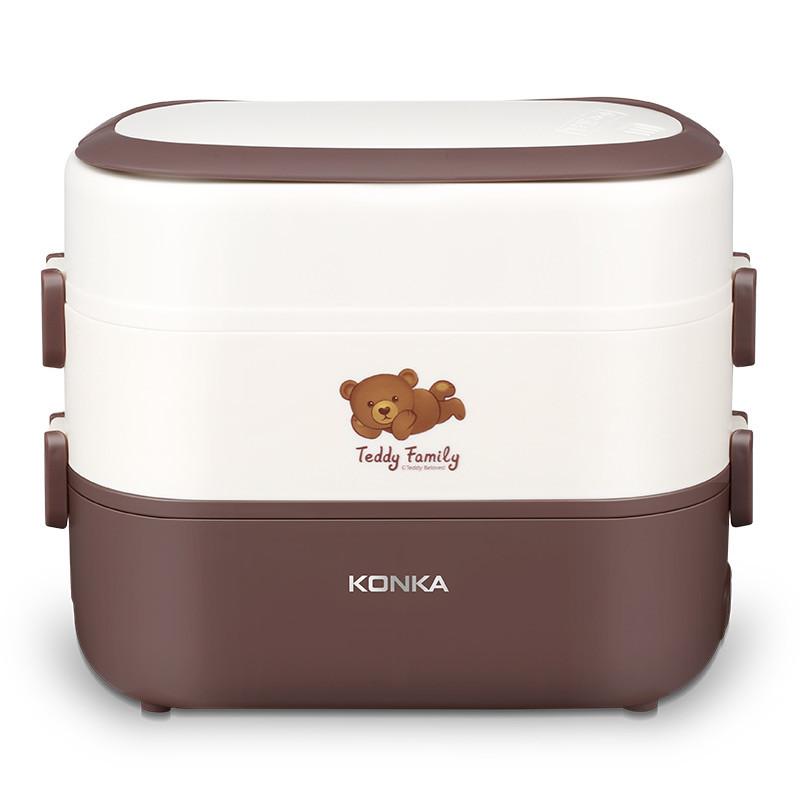上班午餐均衡搭配 · 康佳卡通版多功能加热饭盒上班族便捷携带泰迪电热饭盒KGZZ-T2163
