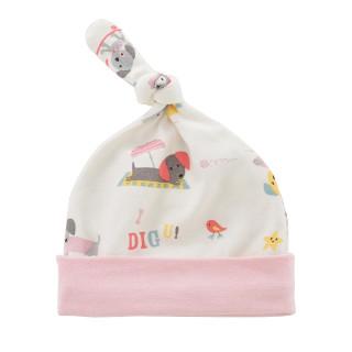 艾娜骑士  婴儿帽子新生儿胎帽 初生婴儿新生儿帽 0-3个月(建议头围36-40cm) 粉色 宠爱狗