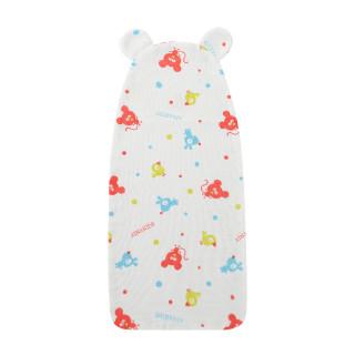 艾娜骑士 儿童婴儿垫背巾宝宝竹棉隔汗巾幼儿中大童 动物聚会(B款20x42cm) 【适合年龄0-2岁】