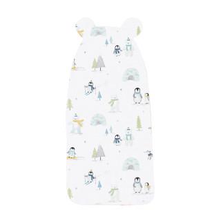 艾娜骑士 大宝宝儿童垫背巾婴儿隔汗巾幼儿园中大童 小企鹅 B款 24x50CM 【适合年龄2-6岁】