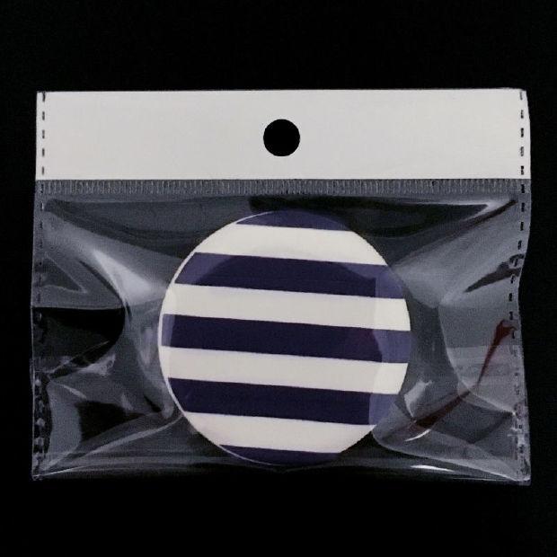 极度初恋 高档化妆粉补气垫可爱卡通海绵圆形通用干湿两用带盒子美妆初学者 深蓝色条纹 2片(袋装)