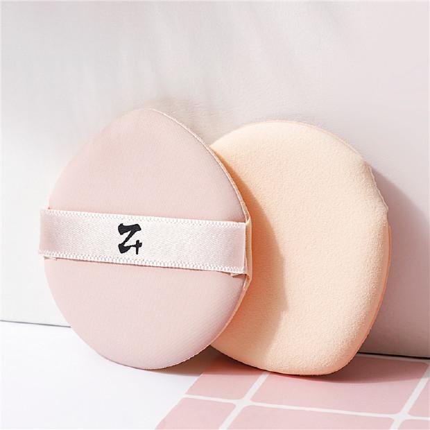 妆加z+ 阿玛尼气垫粉扑原装替换 韩国进口气垫粉饼海绵粉扑水滴型 2枚装 樱花粉