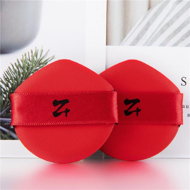 妆加z+ 阿玛尼气垫粉扑原装替换 韩国进口气垫粉饼海绵粉扑水滴型 2枚装 复古红