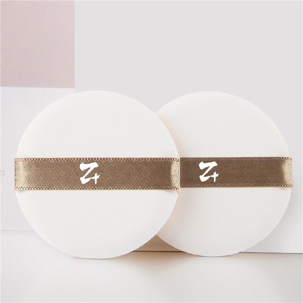 妆加z+ 阿玛尼气垫粉扑原装替换 韩国进口气垫粉饼海绵粉扑水滴型 2枚装 珍珠白