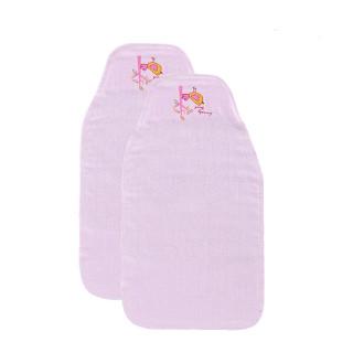 艾娜骑士 竹纤维 婴儿吸汗巾 儿童宝宝隔汗巾垫背巾 粉红 2条装
