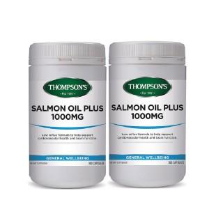 Thompsons汤普森 深海三文鱼油胶囊 300粒X2