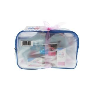 Sebamed施巴 新年婴幼儿洗护5件套 保湿护肤乳200ml+泡泡浴液200ml+尿布霜100ml,+洗发露20毫升+旅行尿布霜10ml