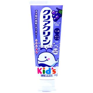 Kao花王 clear clean儿童牙膏 1支 70g 葡萄味