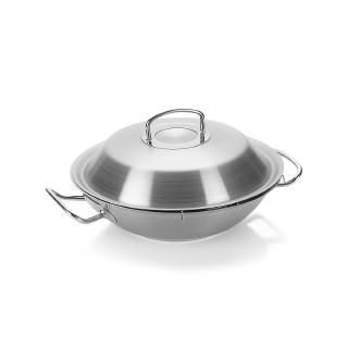 Fissler菲仕乐 雅格系列不锈钢中式炒锅 30cm